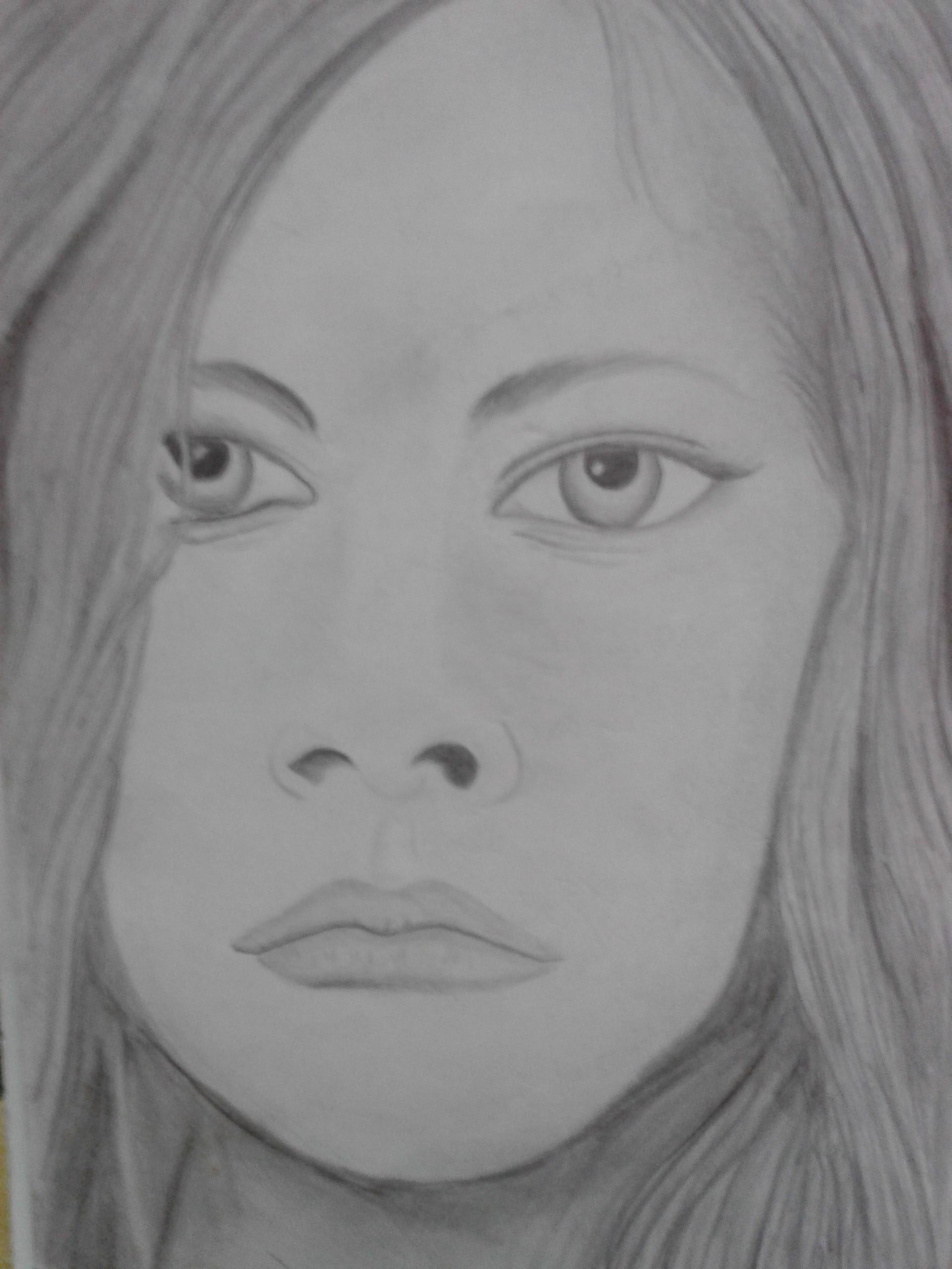 158 Sketsa Gambar Wajah Perempuan